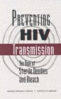 Preventing HIV Transmission : The Role of Sterile Needles and Bleach - eBook