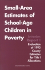 Small-Area Estimates of School-Age Children in Poverty : Interim Report 1, Evaluation of 1993 County Estimates for Title I Allocations - eBook