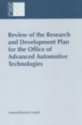 Review of the Research and Development Plan for the Office of Advanced Automotive Technologies - eBook