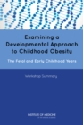 Examining a Developmental Approach to Childhood Obesity : The Fetal and Early Childhood Years: Workshop Summary - eBook
