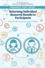 Returning Individual Research Results to Participants : Guidance for a New Research Paradigm - eBook