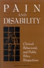 Pain and Disability : Clinical, Behavioral, and Public Policy Perspectives - eBook