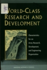 World-Class Research and Development : Characteristics for an Army Research, Development, and Engineering Organization - eBook