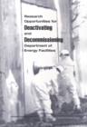 Research Opportunities for Deactivating and Decommissioning Department of Energy Facilities - eBook