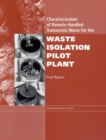 Characterization of Remote-Handled Transuranic Waste for the Waste Isolation Pilot Plant : Final Report - eBook
