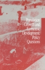 Population Growth and Economic Development : Policy Questions - eBook