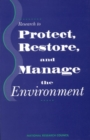 Research to Protect, Restore, and Manage the Environment - eBook