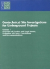 Geotechnical Site Investigations for Underground Projects : Volume 1 - eBook