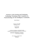 Summary of the Sensing and Positioning Technology Workshop of the Committee on Nanotechnology for the Intelligence Community : Interim Report - eBook