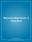 Measuring What Counts : A Policy Brief - eBook