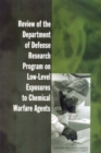 Review of the Department of Defense Research Program on Low-Level Exposures to Chemical Warfare Agents - eBook