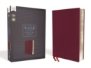 NASB, Thinline Bible, Bonded Leather, Burgundy, Red Letter, 1995 Text, Comfort Print - Book