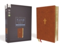 NASB, Thinline Bible, Large Print, Leathersoft, Brown, Red Letter Edition, 1995 Text, Comfort Print - Book