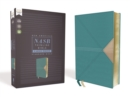 NASB, Thinline Bible, Large Print, Leathersoft, Teal, Red Letter Edition, 1995 Text, Comfort Print - Book