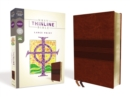 NRSV, Thinline Bible, Large Print, Leathersoft, Brown, Comfort Print - Book