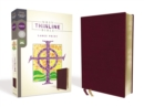 NRSV, Thinline Bible, Large Print, Bonded Leather, Burgundy, Comfort Print - Book