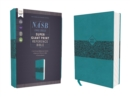 NASB, Super Giant Print Reference Bible, Leathersoft, Teal, Red Letter Edition, 1995 Text, Comfort Print - Book