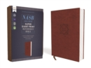 NASB, Super Giant Print Reference Bible, Leathersoft, Brown, Red Letter, 1995 Text, Comfort Print - Book