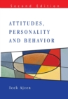Attitudes, Personality and Behaviour - Book
