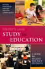 EBOOK: Master's Level Study in Education: A Guide to Success for PGCE Students - eBook
