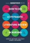 How to do a Systematic Literature Review in Nursing: A step-by-step guide - Book