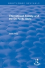 International Society and the De Facto State - Book