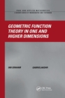 Geometric Function Theory in One and Higher Dimensions - Book