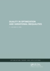 Duality in Optimization and Variational Inequalities - Book