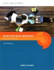 Effective Legal Research - Book