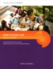 How to Study Law - Book