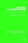 Helping Children Learn : Contributions to a Cognitive Curriculum - Book