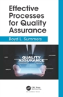 Effective Processes for Quality Assurance - eBook