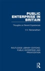 Public Enterprise in Britain : Thoughts on Recent Experiences - eBook