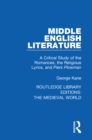 Middle English Literature : A Critical Study of the Romances, the Religious Lyrics, and Piers Plowman - eBook