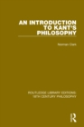 An Introduction to Kant's Philosophy - eBook