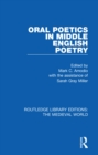 Oral Poetics in Middle English Poetry - eBook