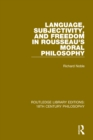 Language, Subjectivity, and Freedom in Rousseau's Moral Philosophy - eBook