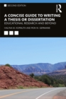 A Concise Guide to Writing a Thesis or Dissertation : Educational Research and Beyond - eBook