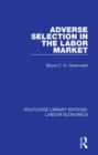 Adverse Selection in the Labor Market - eBook