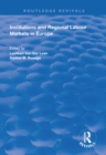 Institutions and Regional Labour Markets in Europe - eBook