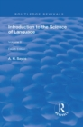 Introduction to the Science of Language : In Two Volumes. Vol 2 - eBook