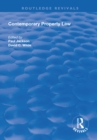 Contemporary Property Law - eBook