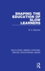 Shaping the Education of Slow Learners - eBook