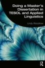 Doing a Master's Dissertation in TESOL and Applied Linguistics - eBook