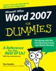 Word 2007 For Dummies - Book