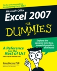 Microsoft Office : Excel 2007 for Dummies - Book