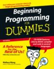 Beginning Programming For Dummies - Book