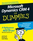 Microsoft Dynamics CRM 4 For Dummies - Book