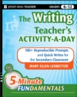 The Writing Teacher's Activity-a-Day : 180 Reproducible Prompts and Quick-Writes for the Secondary Classroom - Book