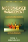 Mission-Based Management : Leading Your Not-for-Profit In the 21st Century - eBook